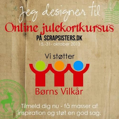 Jeg designer til online julekortkursus der støtter Børns Vilkår