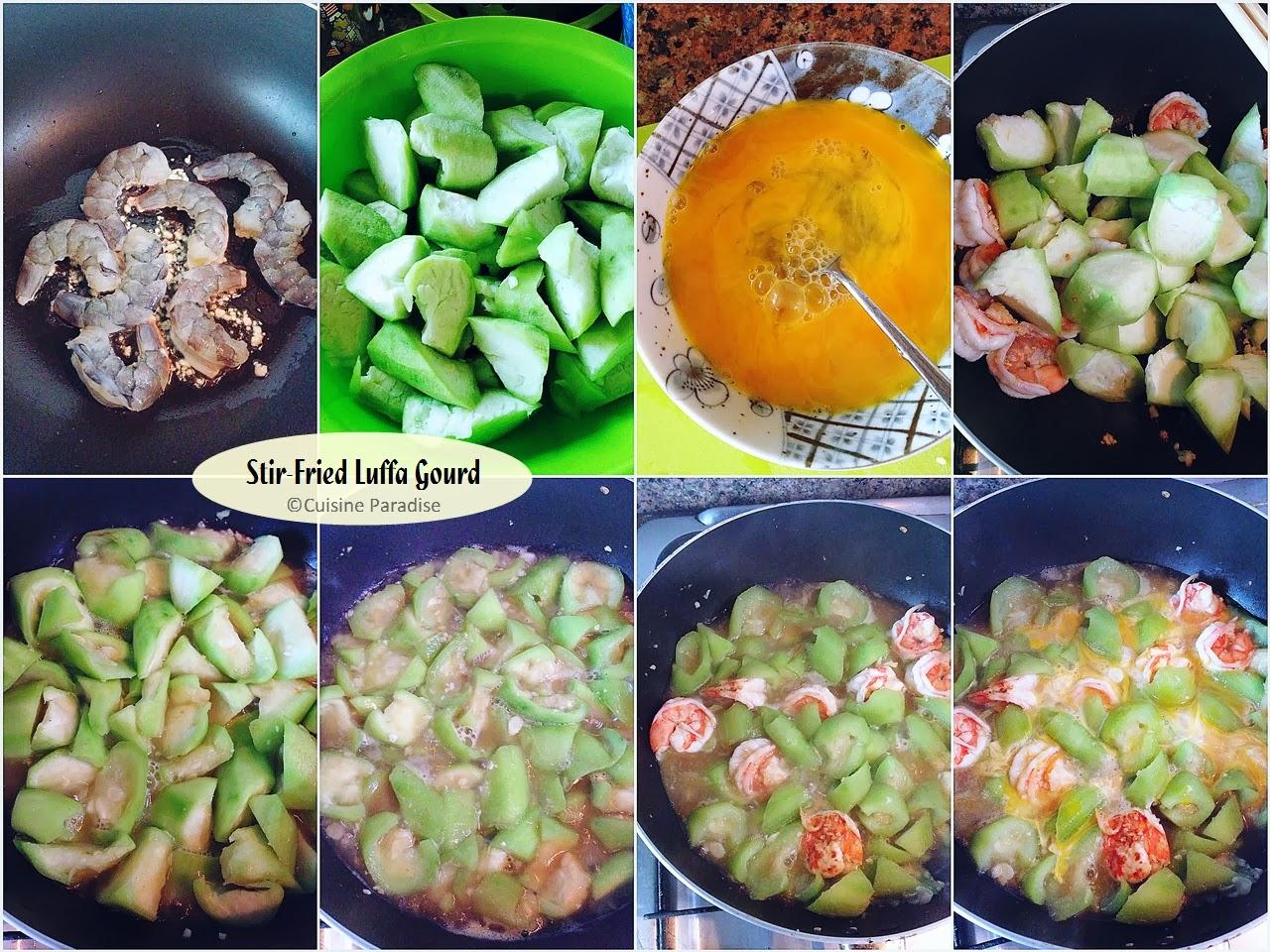 Stir-Fried Luffa Gourds With Eggs Recipe — Dishmaps