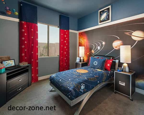 boy nursery decorating ideas in space style