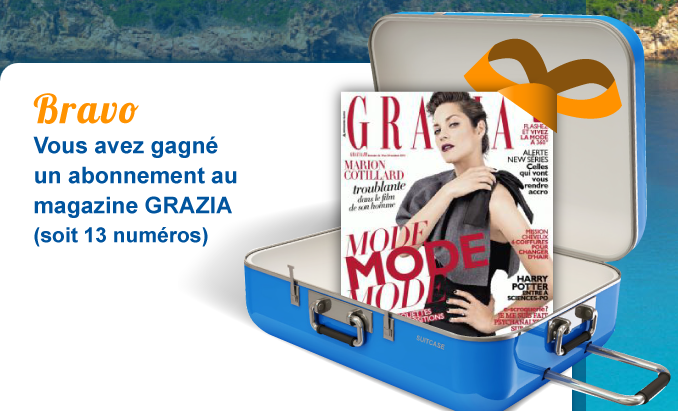 miss bons plans termin abonnement gratuit de 13 mois au magazine grazia. Black Bedroom Furniture Sets. Home Design Ideas