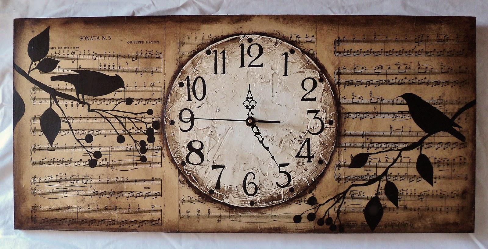 Pyn art reloj pajaritos vintage - Reloj de pared vintage ...