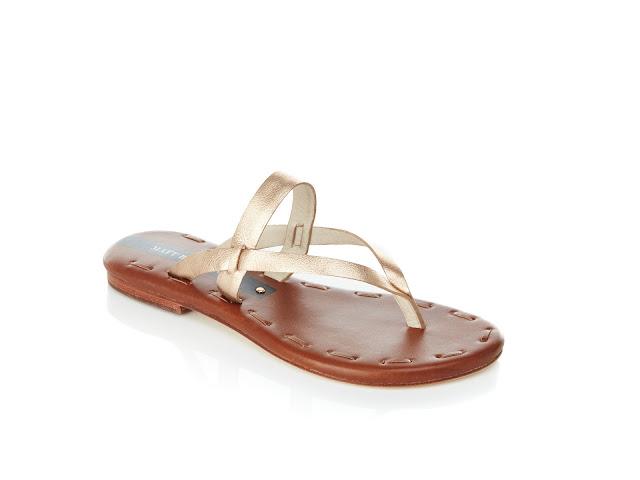 Matt Berson metallic thong sandal