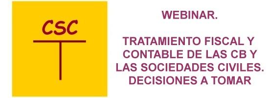 Webinar Tratamiento fiscal y Contable de las Comunidades de Bienes y las Sociedades Civiles.