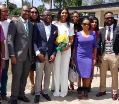 Lilian Esoro and Husband Ubi Franklin wed at Ikoyi Registry 000