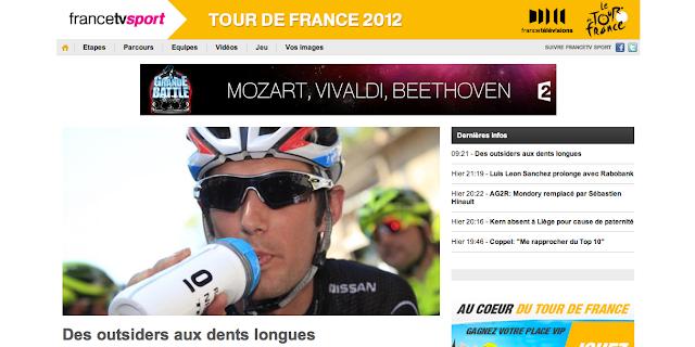Site internet de France TV Sport