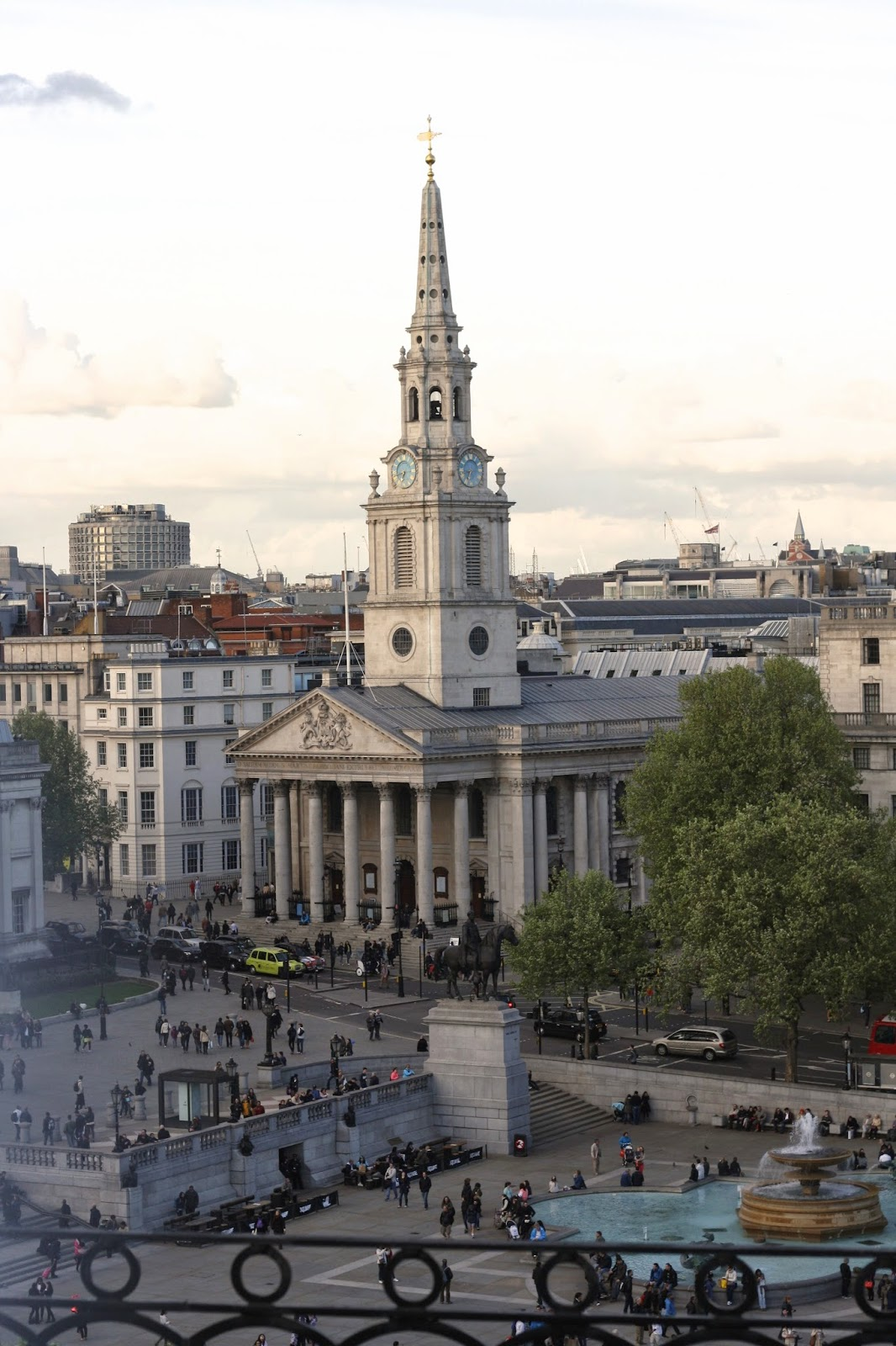 Views over Trafalgar Square London