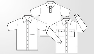Mens Blank Dress Template for Office Work
