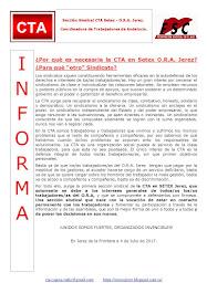 """¿Por qué es necesaria la CTA en Setex O.R.A. Jerez? ¿Para qué """"otro"""" Sindicato?"""