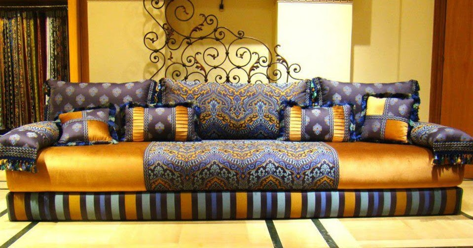 d coration salon marocain 2017. Black Bedroom Furniture Sets. Home Design Ideas