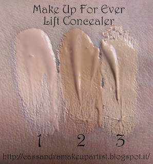LIFT CONCEALER - MUFE - make up for ever - swatch - recensione - review - 1 - 2 - 3 - review