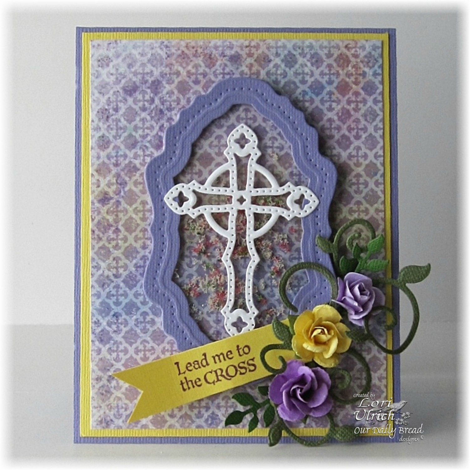 Stamps - Our Daily Bread Designs Christian Faith Paper Collection, ODBD Custom Ornamental Crosses Die, ODBD Custom Fancy Foliage Die, ODBD Custom Vintage Flourish Pattern Die, The Cross