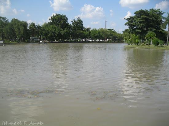 Man-made lake of Chatuchak Park
