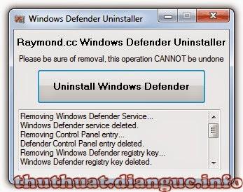 Cách gỡ bỏ Windows Defender phần mềm diệt virus trên win 8 win 10