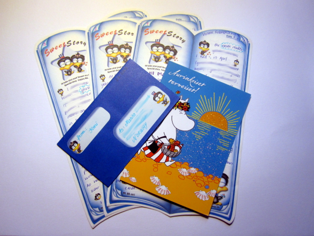 penguin stationery moomin card