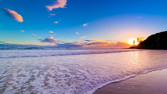Australia Coast Beach Sunset