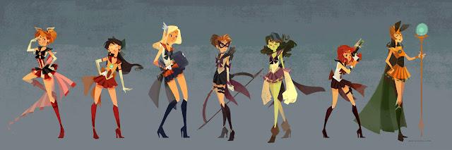 Sailor Avengers por nna