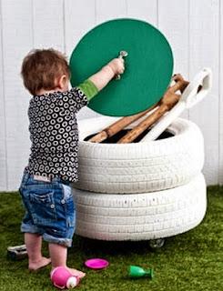 Muebles con Neumáticos Reciclados