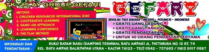 Taman Kanak-Kanak & Play Group 3 Bahasa  GEFARI