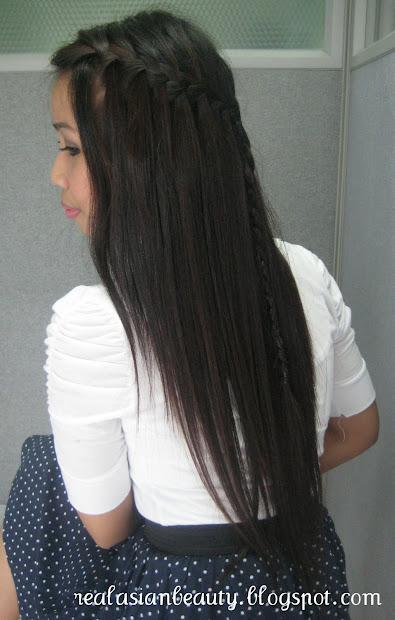 real asian beauty waterfall braid