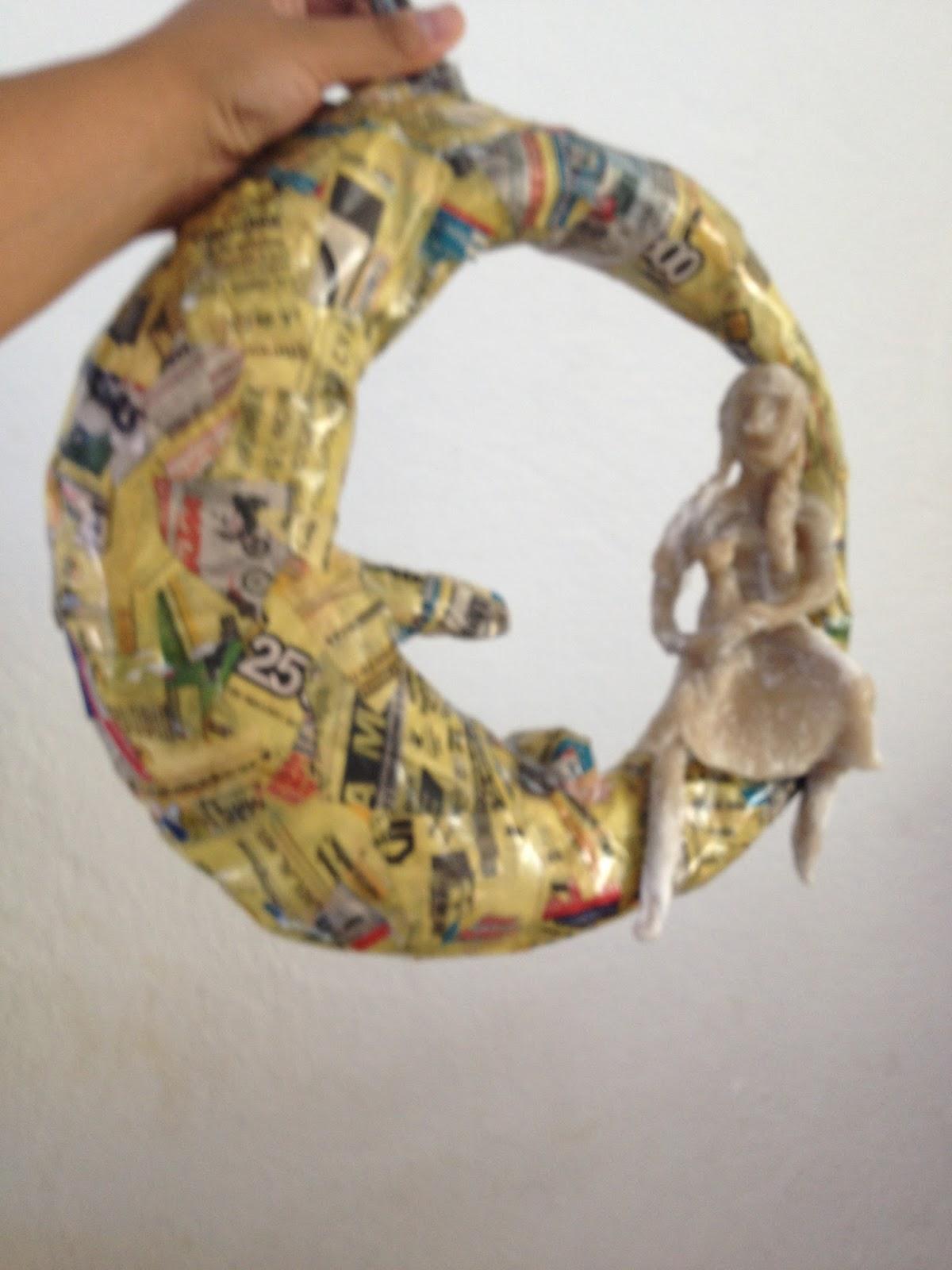 Flamingo de papel mache con material reciclado las - Manualidades de papel reciclado ...