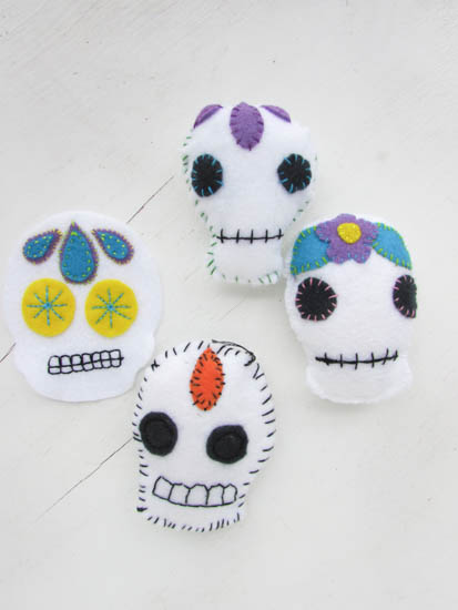 A Lively Hope Calavera Sugar Skull Embroidery Free Pattern