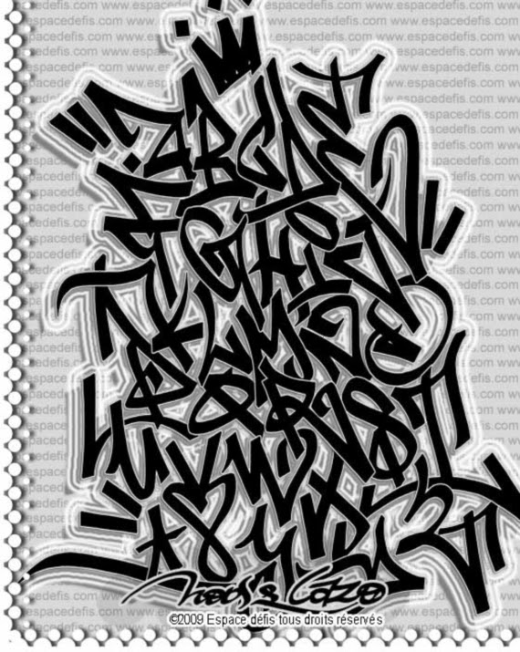 Graffiti Creator Styles: Graffiti Letters A-Z To Draw