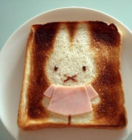 Kawaii Miffy Toast Art