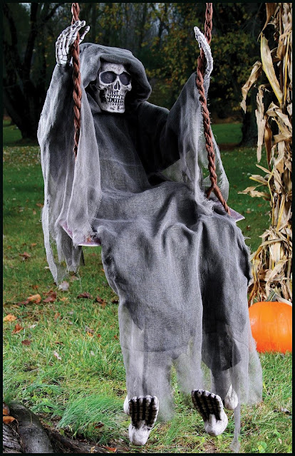 swinging skeleton halloween decoration