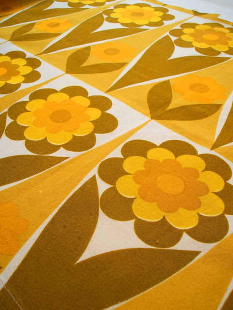 Heals Flower Shop fabric dating from the 1960s