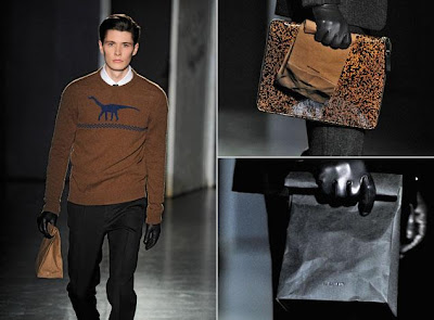 Jil Sander Men's Fall/Winter 2012-13 Runway Vasari Clutch paper bag
