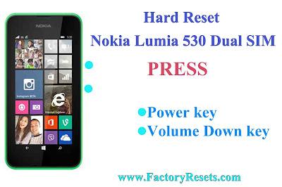 Hard Reset  Nokia Lumia 530 Dual SIM