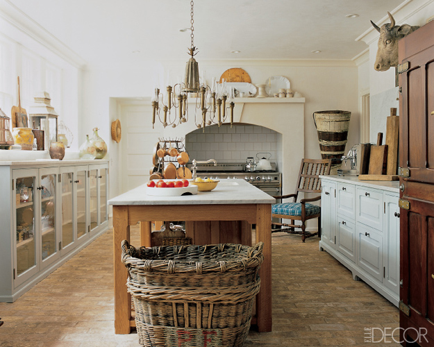D cor de provence rustic kitchen for Pictures of country kitchens