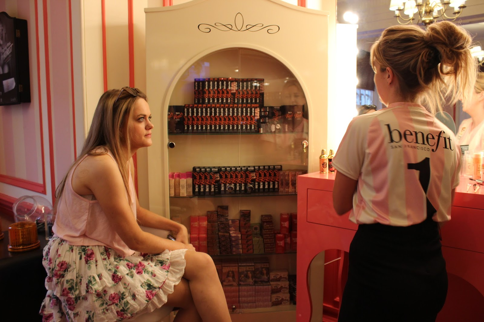 Girl being given a benefit makeover