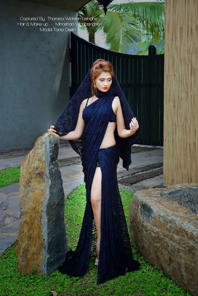 Tania Deen sexy saree