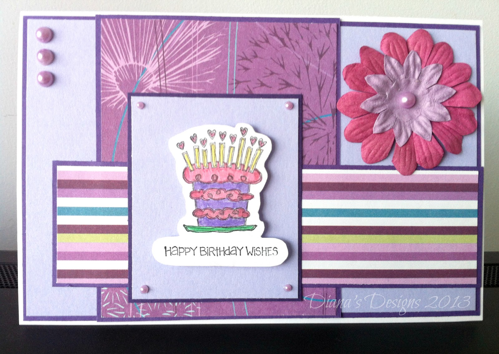 Handmade birthday card toronto teacher mom whenever i make a handmade greeting card whose intended recipient is a female i love to use flowers after making this card i realized i was running low bookmarktalkfo Gallery