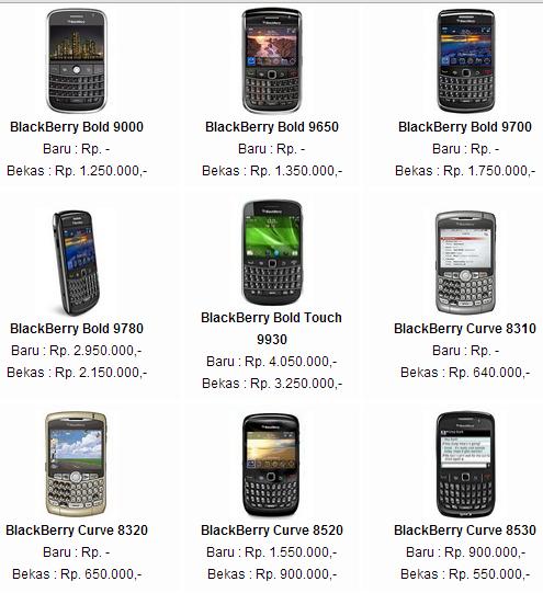 Jika Anda Penggila Handphone Mungkin Harga Handphone Blackberry 2012