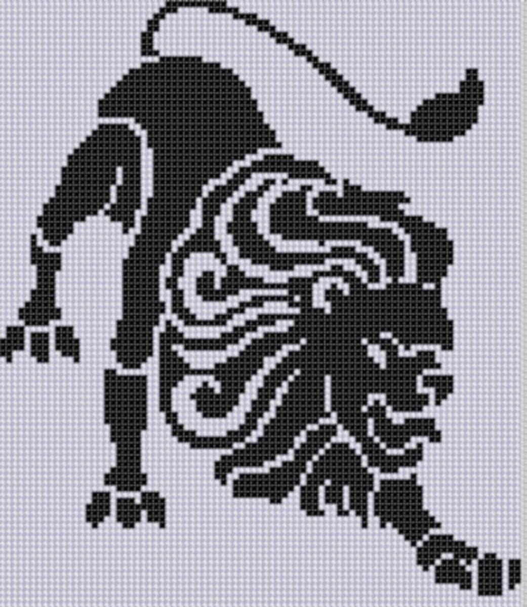 Mother Bee Designs Zodiac Leo 2 Cross Stitch Pattern