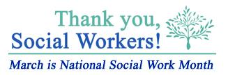 Hospice Volunteers Fredericksburg: March is National Social Work Month