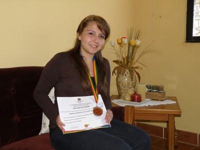 Por primera vez tarijeña participa en Olimpiadas Iberoamericanas