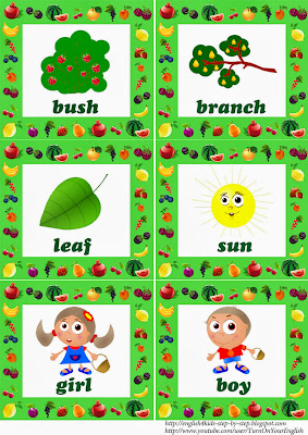 fruit flashcards for teaching esl