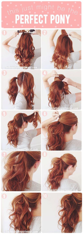 peinados fáciles para cabello largo