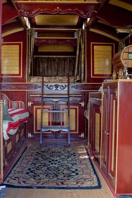 Model  Art Design And Fashion Gypsy Caravan Wagon Interior Decorating