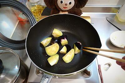 鶏ナスあんかけ蕎麦の作り方(1)