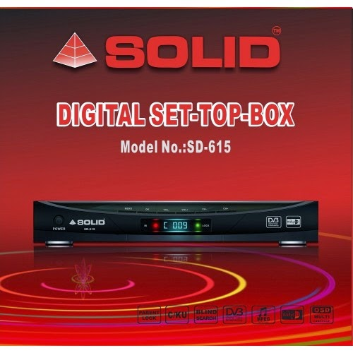 Solid SD-615 DVB-S, MPEG-2, Digital Set-Top Box