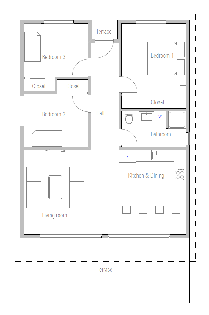 Affordable home plans march 2014 for Small 3 bedroom house plans