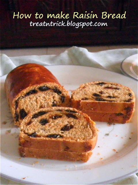 Raisin Bread Recipe @ http://treatntrick.blogspot.com