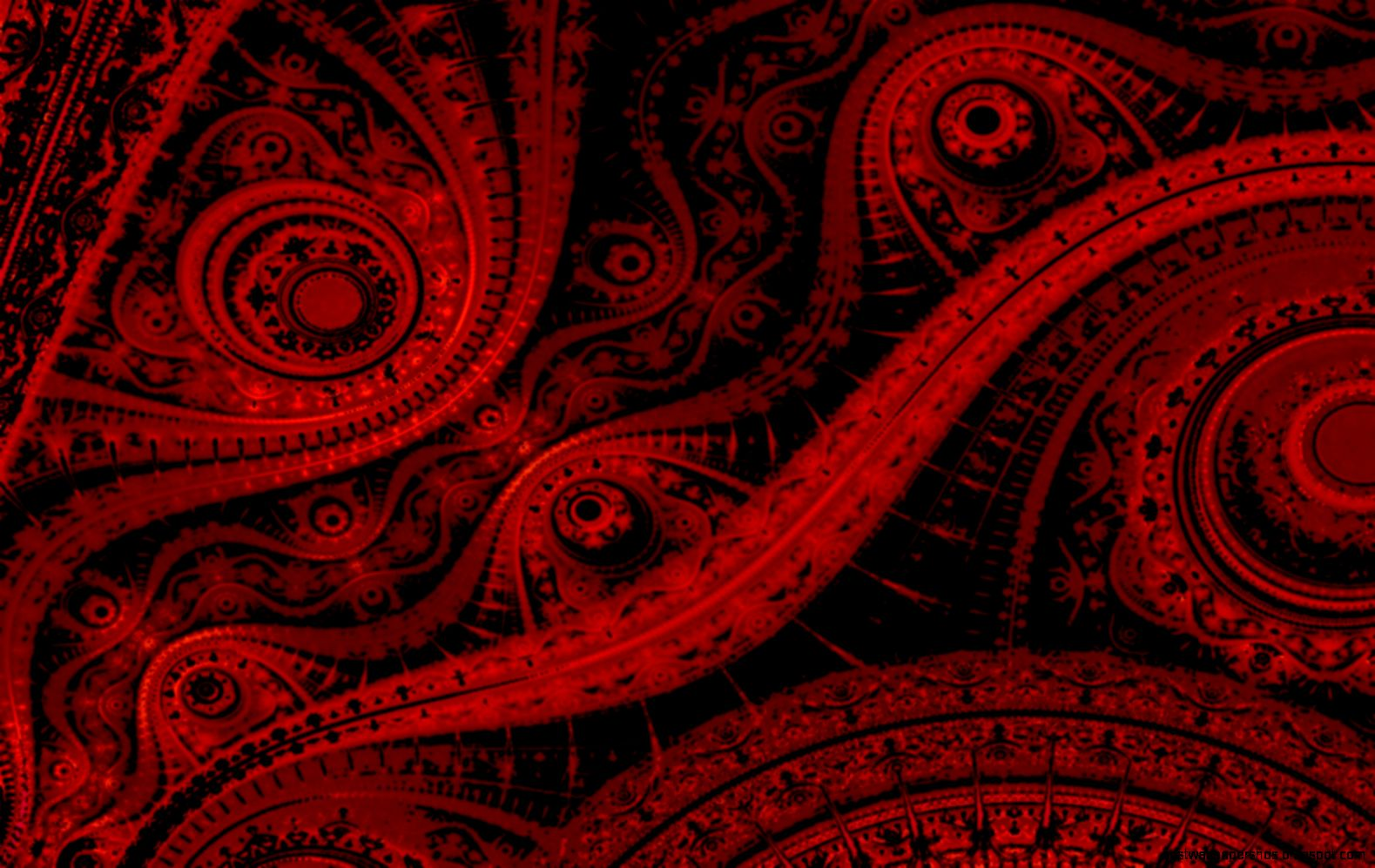 Red Abstract Design Wallpaper