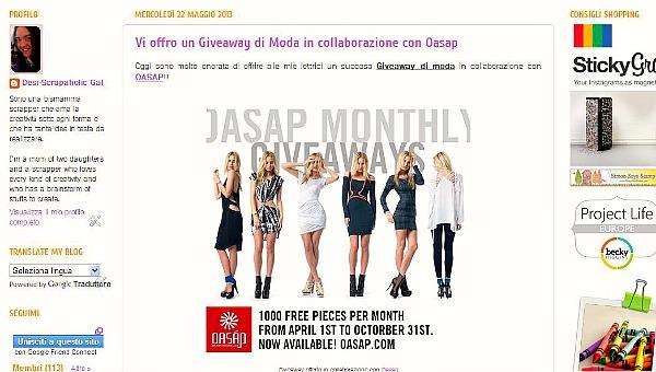 Giveaway moda Oasap