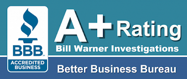 BILL WARNER INVESTIGATIONS Sarasota Fl has obtained a A+ rating with the BBB