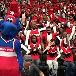 NBA 2K14 Washington Wizards Playoffs Crowd Mod